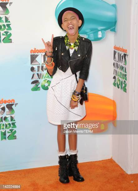 Singer Willow Smith attends Nickelodeon's 25th Annual Kids' Choice Awards held at Galen Center on March 31 2012 in Los Angeles California