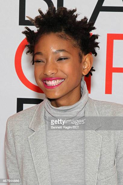 Singer Willow Smith attends the BET's Black Girls Rock Red Carpet sponsored by Chevrolet at NJPAC – Prudential Hall on March 28 2015 in Newark New...