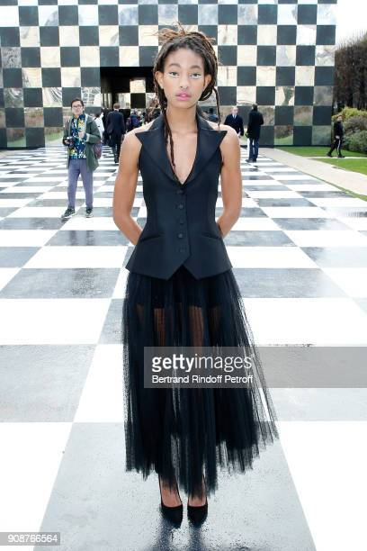 Singer Willow Smith attends the Christian Dior Haute Couture Spring Summer 2018 show as part of Paris Fashion Week on January 22 2018 in Paris France