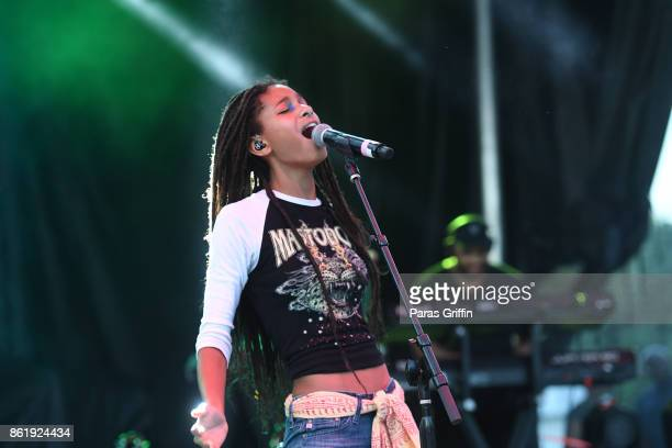 Singer Willow Smith performs onstage at AfroPunk Festival Atlanta at Mechanicsville on October 15 2017 in Atlanta Georgia