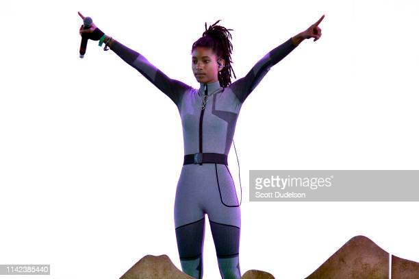 Singer Willow Smith performs onstage during Weekend 1 Day 1 of the 2019 Coachella Valley Music and Arts Festival on April 12 2019 in Indio California