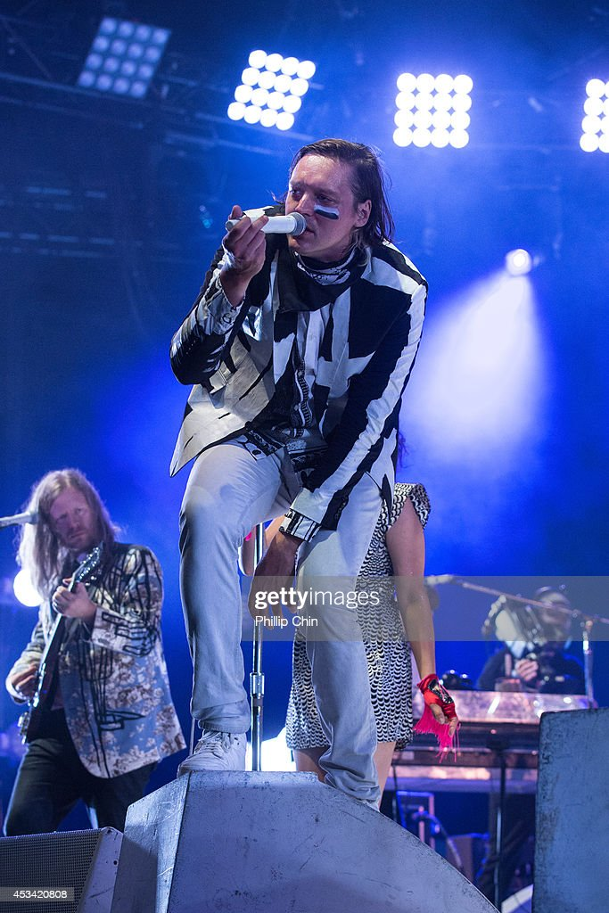 Singer Win Butler of Arcade Fire performs at Squamish Valley Music Festival on August 9, 2014 in Squamish, Canada.