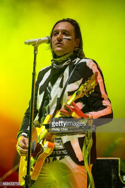 Singer Win Butler of Arcade Fire performs at Squamish Valley Music Festival on August 9 2014 in Squamish Canada