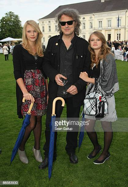 Singer Wolfgang Niedecken and his daughters Isis and Joana attend the presidential summer garden party at Bellevue Palace on June 19, 2009 in Berlin,...