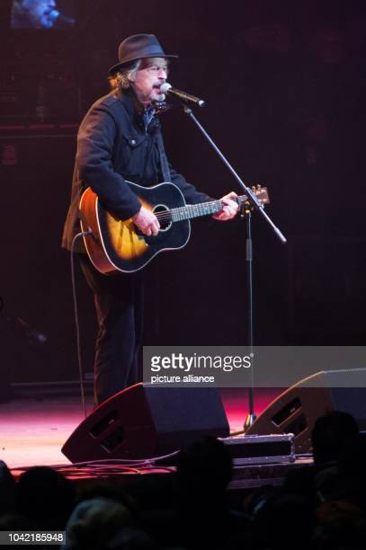 Singer Wolfgang Niedeckenperforms at the citizen's festival at the Neumarkt in DresdenGermany 26 January 2015 The city of Dresden is using the...