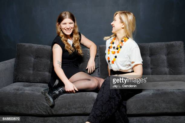 Singer writer and guitarist Liz Phair and rock band Best Coast's Bethany Cosentino are photographed for Los Angeles Times on March 1 2017 in Beverly...