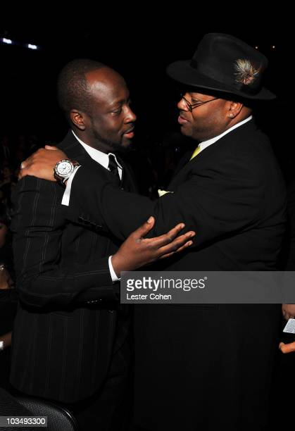 Singer Wyclef Jean and producer Jimmy Jam attend the 52nd Annual GRAMMY Awards held at Staples Center on January 31, 2010 in Los Angeles, California.