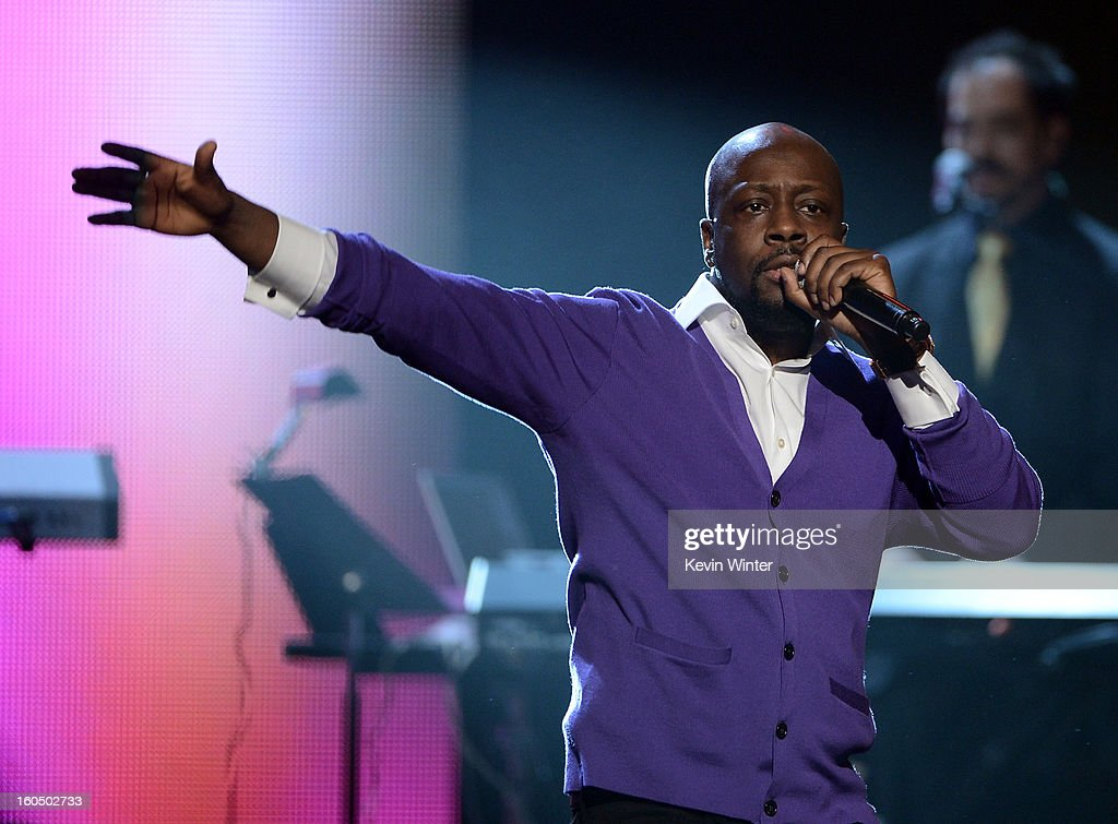 Singer Wyclef Jean performs onstage during the 44th NAACP Image Awards at The Shrine Auditorium on February 1, 2013 in Los Angeles, California.