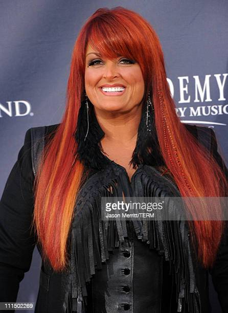 Singer Wynonna Judd arrives at the 46th Annual Academy Of Country Music Awards RAM Red Carpet held at the MGM Grand Garden Arena on April 3 2011 in...