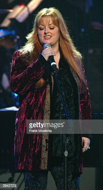 Singer Wynonna Judd performs on February 6, 2004 at the Musicares 2004 Person of the Year Tribute to Sting at Sony Pictures Studios in Los Angeles,...