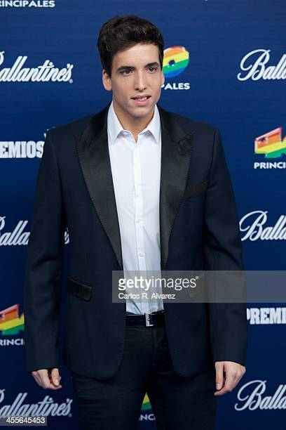 Singer Xuso Jones attends the '40 Principales Awards' 2013 photocall at Palacio de los Deportes on December 12 2013 in Madrid Spain