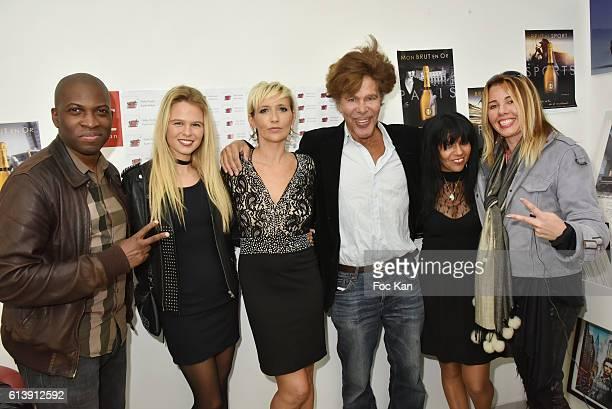 Singer Yannick model Julie Jardon Karin GelainÊfrom AK2A Agency Igor Bogdanov and Aisha PonelleÊfrom from AK2A attend ÇÊRencontre Et PartageÊÈ Entre...