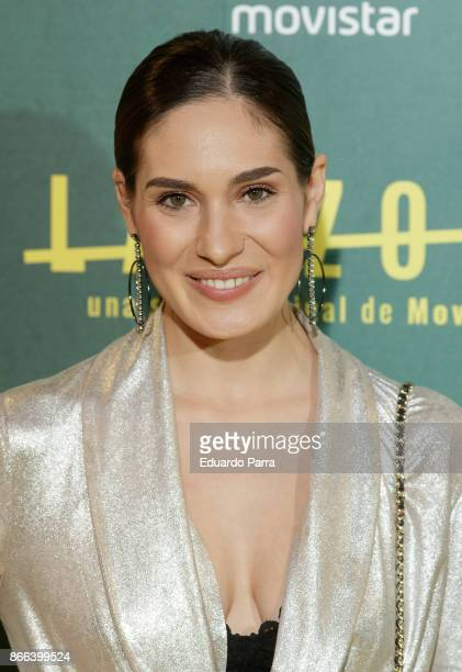 Singer Yara Puebla attends the 'La Zona' premiere at Capitol cinema on October 25 2017 in Madrid Spain