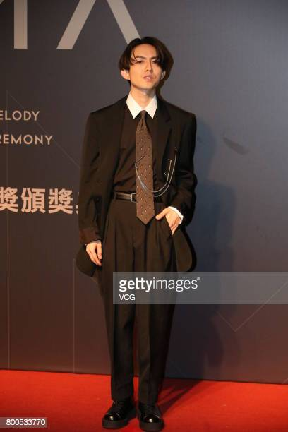 Singer Yoga Lin arrives at the red carpet of the 28th Golden Melody Awards Ceremony on June 24 2017 in Taipei Taiwan of China