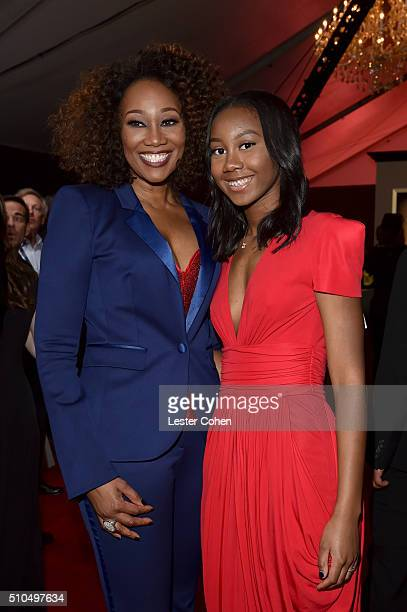 Singer Yolanda Adams and Taylor Ayanna Crawford attend The 58th GRAMMY Awards at Staples Center on February 15 2016 in Los Angeles California