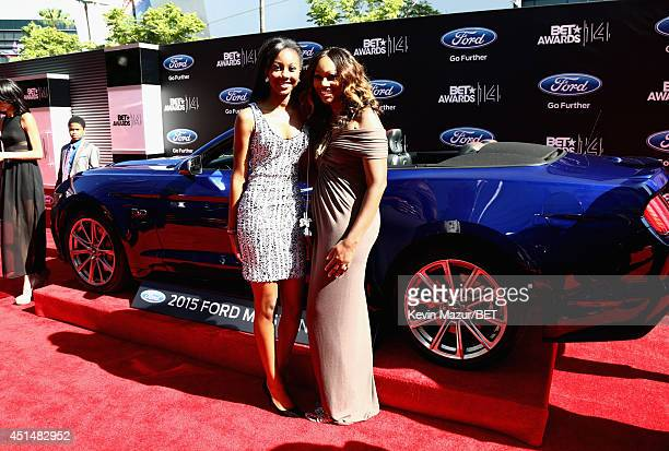 Singer Yolanda Adams and Taylor Ayanna Crawford attend the BET AWARDS '14 at Nokia Theatre LA LIVE on June 29 2014 in Los Angeles California