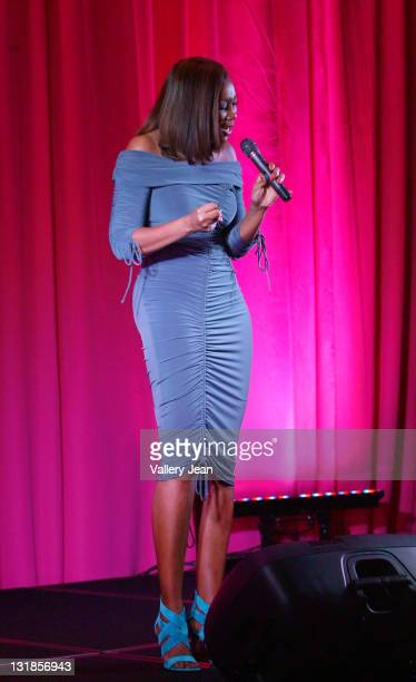 Singer Yolanda Adams attends the 2nd Annual Real Men Support Pink Diamond Ball to benefit The Woman2Woman Breast Cancer Foundation at The Westin...