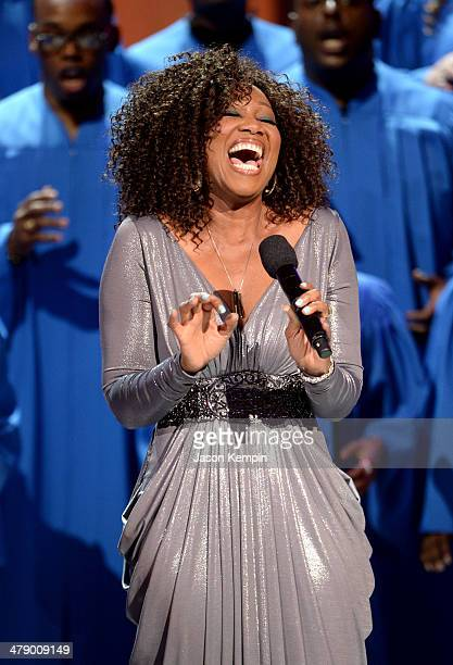 Singer Yolanda Adams performs onstage during BET Celebration of Gospel 2014 at Orpheum Theatre on March 15 2014 in Los Angeles California
