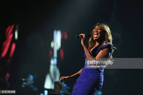 Singer Yolanda Adams performs onstage during the 2016 MusiCares Person of the Year honoring Lionel Richie at the Los Angeles Convention Center on...