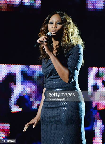 Singer Yolanda Adams performs onstage during the BET AWARDS '14 at Nokia Theatre L.A. LIVE on June 29, 2014 in Los Angeles, California.