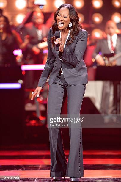 Singer Yolanda Adams performs onstage during UNCF's 33rd annual An Evening Of Stars held at Pasadena Civic Auditorium on December 1 2012 in Pasadena...