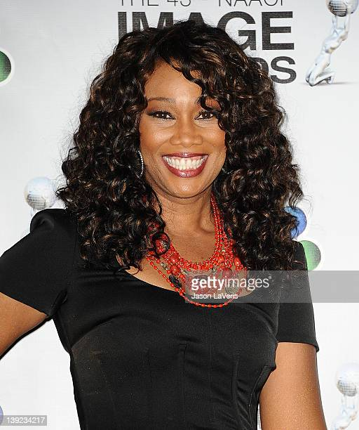 Singer Yolanda Adams poses in the press room at the 43rd annual NAACP Image Awards at The Shrine Auditorium on February 17 2012 in Los Angeles...