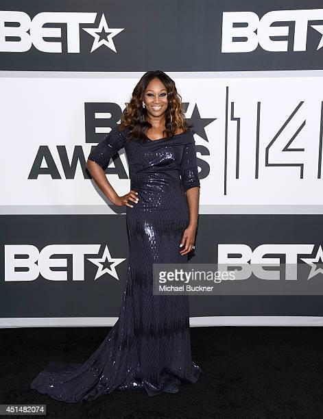 Singer Yolanda Adams poses in the press room during the BET AWARDS '14 at Nokia Theatre LA LIVE on June 29 2014 in Los Angeles California