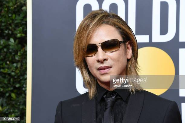 Singer Yoshiki Hayashi attends The 75th Annual Golden Globe Awards at The Beverly Hilton Hotel on January 7 2018 in Beverly Hills California