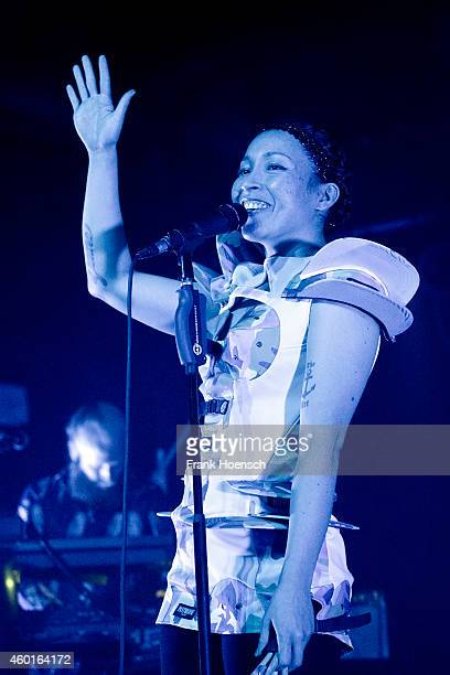 Singer Yukimi Nagano of the Swedish band Little Dragon performs live during a concert at the Astra on December 8 2014 in Berlin Germany