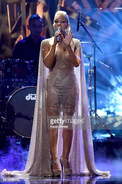 Singer Yuri performs onstage during Telemundo's Latin American Music Awards at the Dolby Theatre on October 8 2015 in Hollywood California