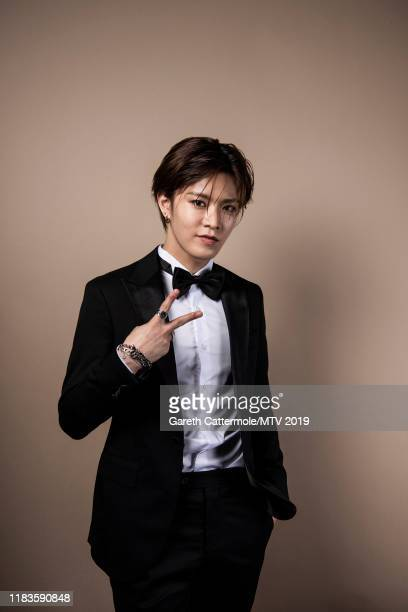 Singer Yuta of boy band NCT 127 pose for a portrait at the MTV EMAs 2019 studio at FIBES Conference and Exhibition Centre on November 3 2019 in...