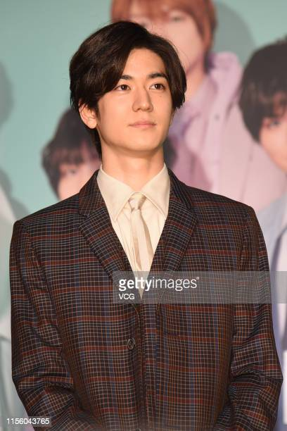 Singer Yuto Nakajima of Japanese boy group Hey Say Jump attends the press conference of Hey Say Jump Live 2019 on June 14 2019 in Taipei Taiwan of...