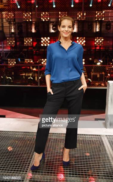 Singer Yvonne Catterfeld new jury member for the 6th season of the music show The Voice of Germany poses during a press event at the Studio Berlin...