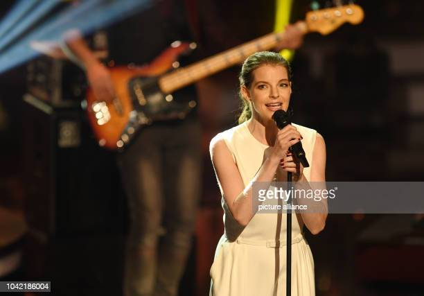 Singer Yvonne Catterfeld performs at the Bavarian Film Awards ceremony in the Prinzregenten Theater in Munich Germany 20 January 2017 Photo Tobias...
