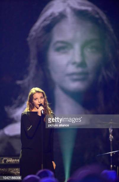 Singer Yvonne Catterfeld performs during the 19th Jose Carreras Gala in Europapark in Rust Germany 19December 2013 Celebrities are collecting...