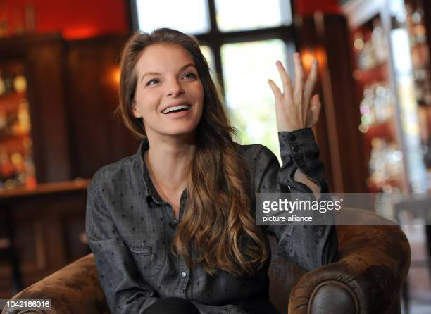 Singer Yvonne Catterfeld talks about her new album during an interview in BerlinGermany 30 October 2013 The album with the song 'Lieberso' will go...