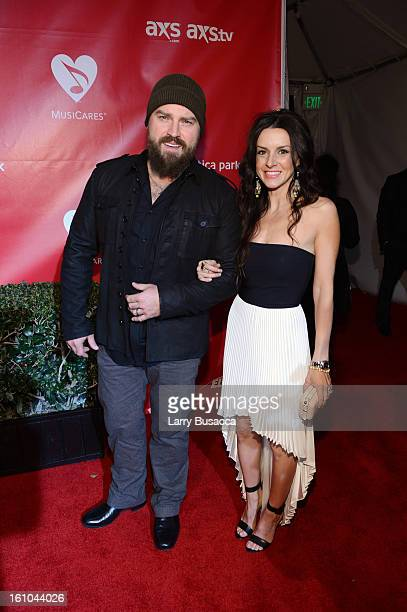Singer Zac Brown and Shelly Brown arrive at MusiCares Person Of The Year Honoring Bruce Springsteen at Los Angeles Convention Center on February 8...