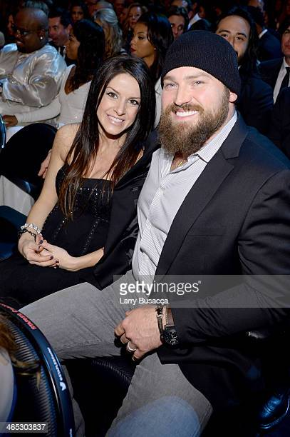 Singer Zac Brown and Shelly Brown attend the 56th GRAMMY Awards at Staples Center on January 26 2014 in Los Angeles California