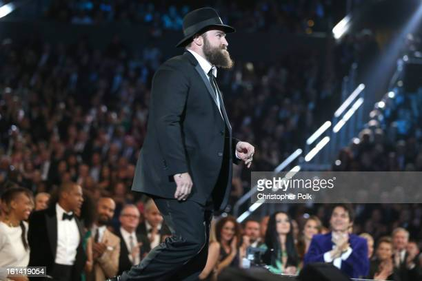 Singer Zac Brown appears onstage during the 55th Annual GRAMMY Awards at STAPLES Center on February 10 2013 in Los Angeles California