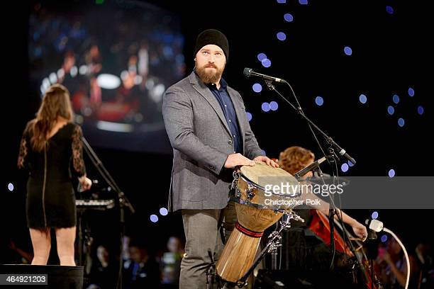 Singer Zac Brown performs onstage at 2014 MusiCares Person Of The Year Honoring Carole King at Los Angeles Convention Center on January 24 2014 in...