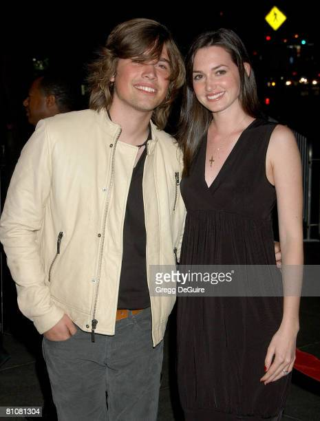 Singer Zac Hanson and wife Kate arrive at the 'Darfur Now' Los Angeles screening at the Directors Guild of America on October 30 2007 in Los Angeles...