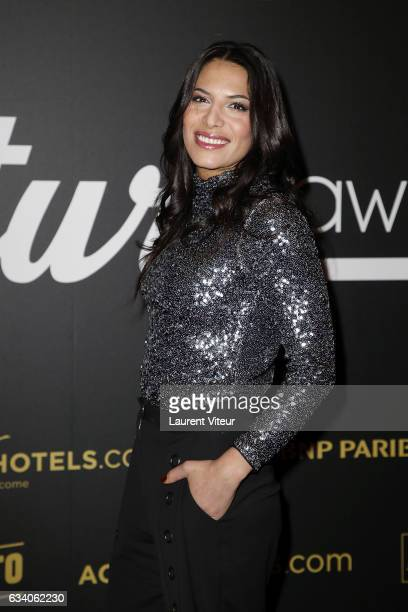 Singer Zaho attends the '4th Melty Future Awards' at Le Grand Rex on February 6 2017 in Paris France