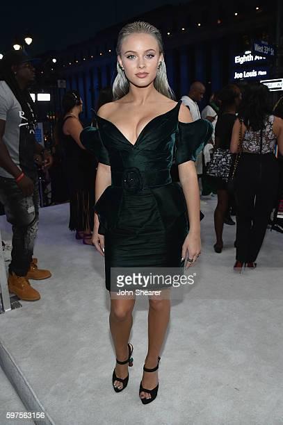 Singer Zara Larsson attends the 2016 MTV Video Music Awards on August 28 2016 in New York City