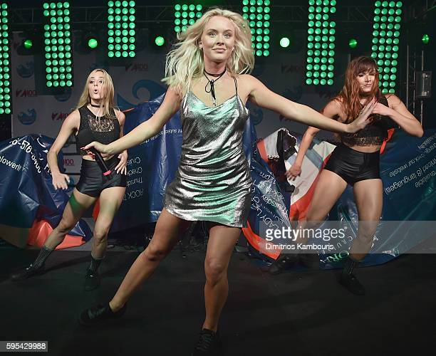 Singer Zara Larsson performs during Elvis Duran's End Of Summer Bash at Hornblower Cruises Pier 15 on August 25 2016 in New York City