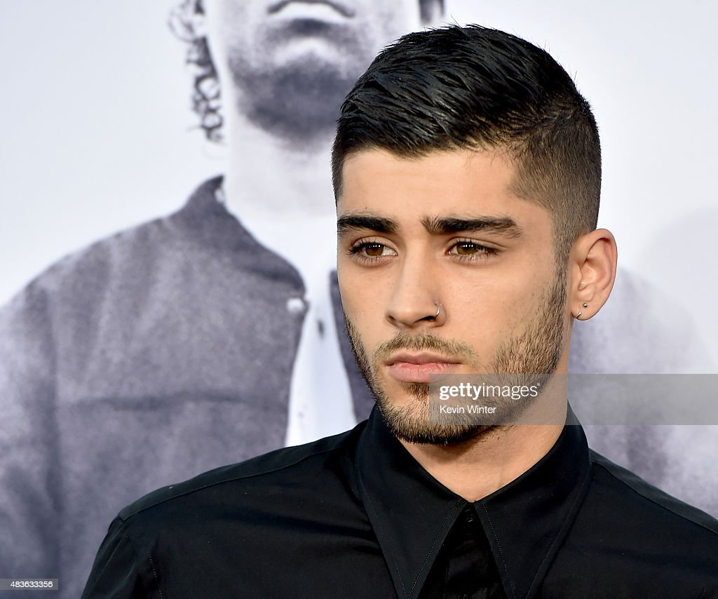 Singer Zayn Malik arrives at the premiere of Universal Pictures and Legendary Pictures' 'Straight Outta Compton' at the Microsoft Theatre on August 10, 2015 in Los Angeles, California.