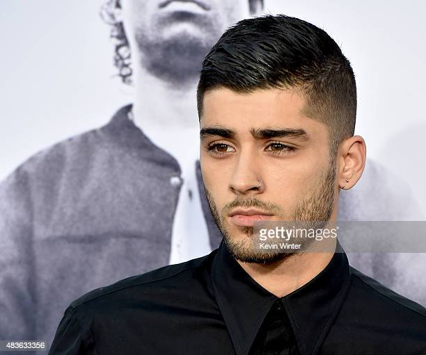 Singer Zayn Malik arrives at the premiere of Universal Pictures and Legendary Pictures' Straight Outta Compton at the Microsoft Theatre on August 10...