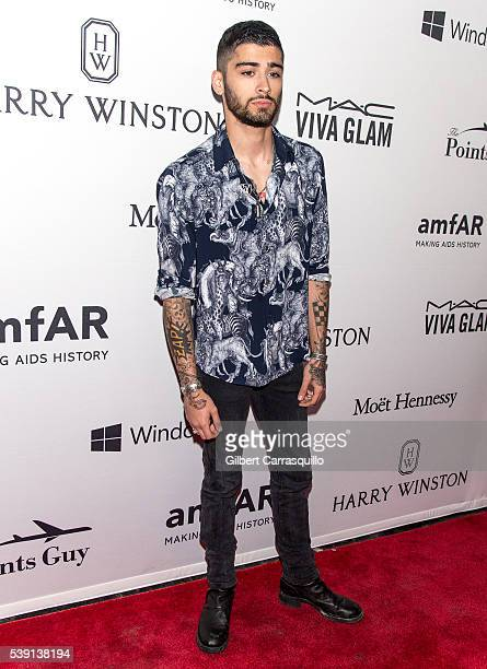 Singer Zayn Malik attends 7th Annual amfAR Inspiration Gala New York at Skylight at Moynihan Station on June 9 2016 in New York City