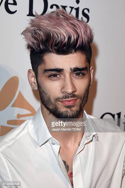 Singer Zayn Malik attends the 2016 PreGRAMMY Gala and Salute to Industry Icons honoring Irving Azoff at The Beverly Hilton Hotel on February 14 2016...