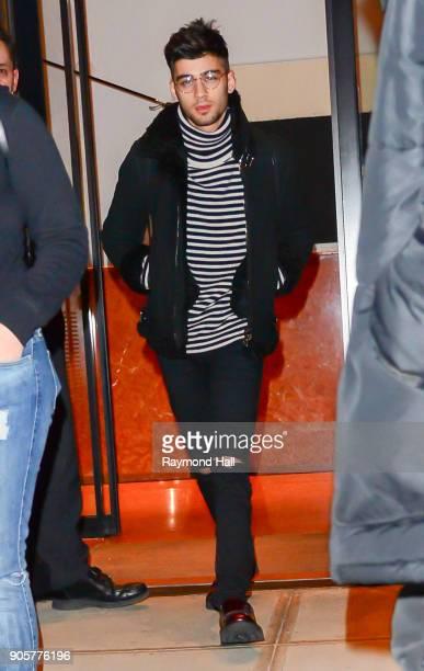 Singer Zayn Malik is seen in Soho on January 16 2018 in New York City