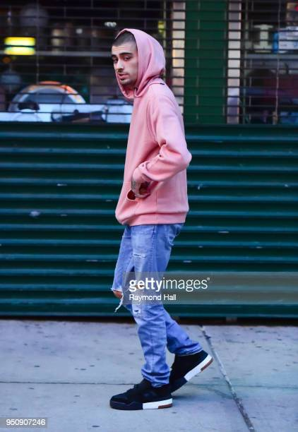 Singer Zayn Malik is seen leaving Gigi Hadid's home a day after her birthday in Soho on April 24 2018 in New York City